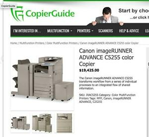 Canon ImageRunner Advance Colour Copier IRA-C5235 C5240 C5250 C5255 Color Office Printer Scanner Copy Machine Copiers