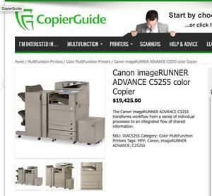 Canon ImageRunner Advance Colour Copier IRA-C5235 C5240 C5250 C5255 Color Office Printer Scanner Copy Machine Copiers
