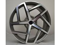 """**Special Offer** 18"""" GMF Dallas Style wheels and tyres suitable for a VW Golf, Jetta, Caddy ETC"""