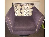 3 seater, large chair & swivel chair