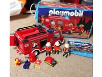 Playmobil Fire truck and trailer