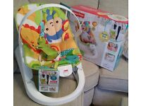 Fisher Price Fun n Fold Vibrating Baby Bouncy Chair WITH TAGS! ( Baby Bouncer)