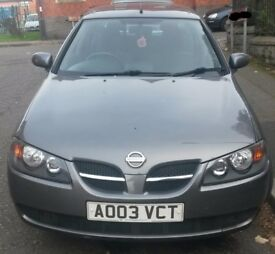 2003 Nissan Almera 1.5 SE 5dr with MOT 07/2018, PARKING SENSORS