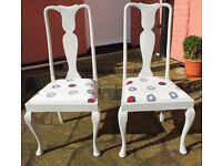 Pair of Shabby Chic Dining Chairs