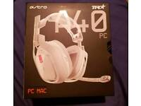 Astro A40TR PC/MAC white headset. BRAND NEW