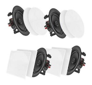 Pyle Surround Wall / Ceiling Home Speaker, Set of 4, White (PDICBT266)
