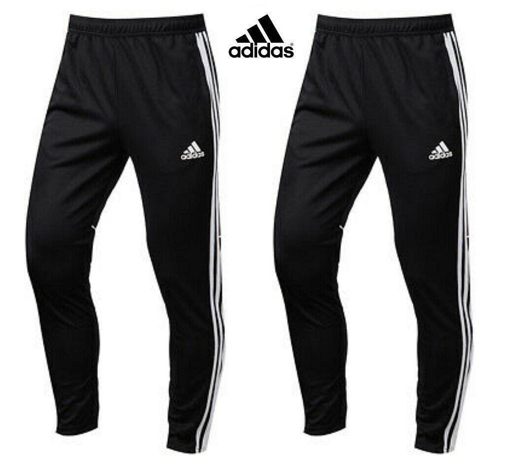 Adidas Para Hombre Pantalones De Entrenamiento Fútbol Tango Chándal Pantalones Pantalones Negro