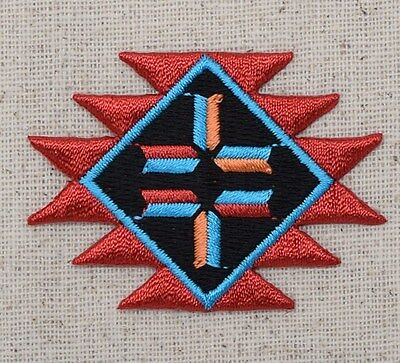Iron On Embroidered Applique/Patch-Turquoise Native American Indian Southwest