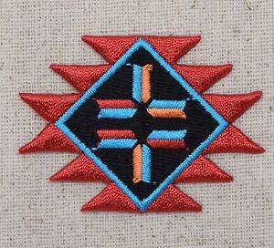Southwestern Design Native American Indian - Iron on Applique/Embroidered Patch