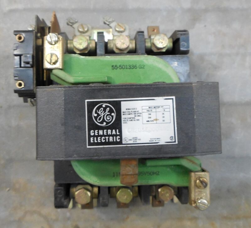GENERAL ELECTRIC GE Contactor CR205E000AAC Size Sz 3 50 HP 3PH 100A 115V Coil