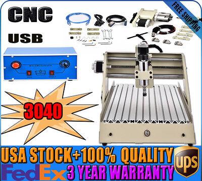 Usb 3040t Cnc Router 4 Axis Engraver Milling Machine Desktop 3d Cutter 400w Ups