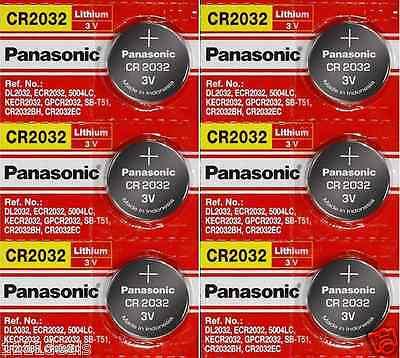 6 x SUPER FRESH Panasonic ECR2032 CR2032 Lithium Battery 3V Coin Cell Exp. 2028 comprar usado  Enviando para Brazil