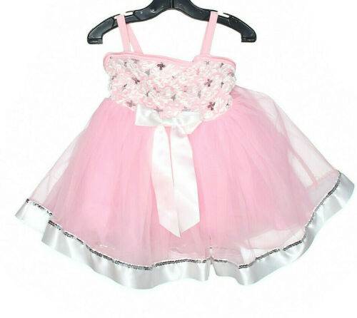 Girl Costume Gallery Pink  White Sequin Ballet Dance Costume Size XS Child