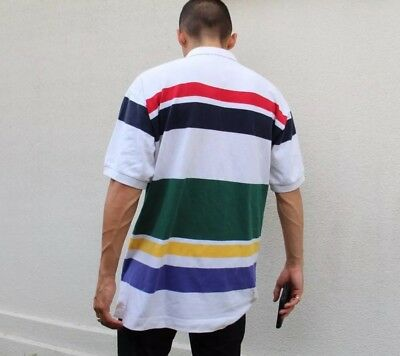 Nautica Vintage Color Block 90s Striped Polo Shirt Adult Large #2T #DP
