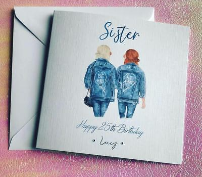 Best Friend Birthday Card for Sister/ cousin Handmade 25th 30th 35th 40th
