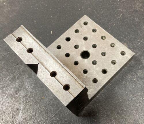 4-3/4x4x4 Angle Block w/ Vee V machinist Tool Die Maker Set Up Fixture Jig Mill