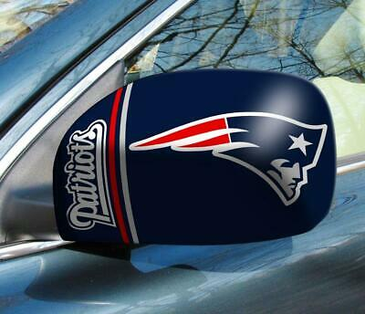 New England Patriots Mirror Cover 2 Pack - Small Size [NEW] NFL Car Auto Truck