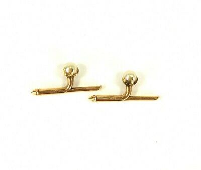 Vintage Larter Mens Shirt Studs Pearl and 14K Gold