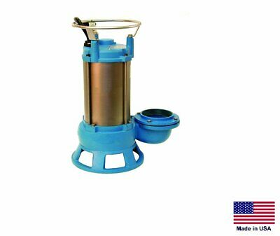 Sewage Shredder Pump Submersible - Industrial - 4 - 230v - 3 Ph - 13200 Gph