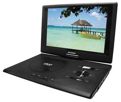Sylvania SDVD1332 13.3-Inch Swivel Screen Portable DVD Player with USB/SD Card