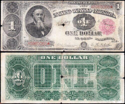 "RARE 1890 $1 ""ORNATE"" Stanton Treasury Note! FREE SHIPPING! A5965066*"