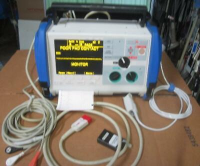 Zoll M Series Monitor 3 Lead Ecg Spo2 Pacing Aed Analyze Battery Case