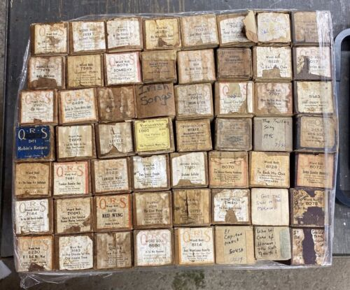 LOT OF 56 VINTAGE Player Piano Word Rolls - Various Titles & Years - LOT 4