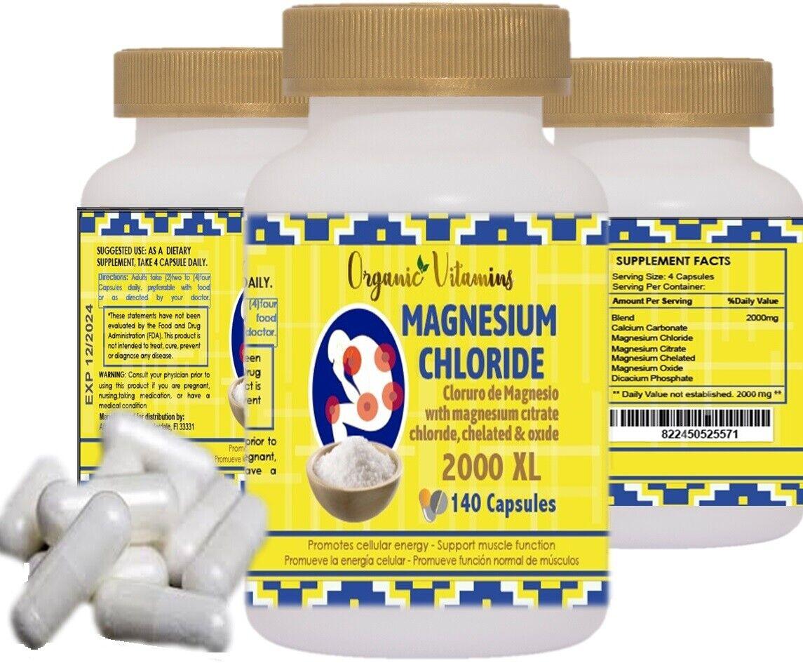 MAGNESIUM CHLORIDE MAXICLORURO 2000 140 CAPSULES CLORURO DE MAGNESIO 1