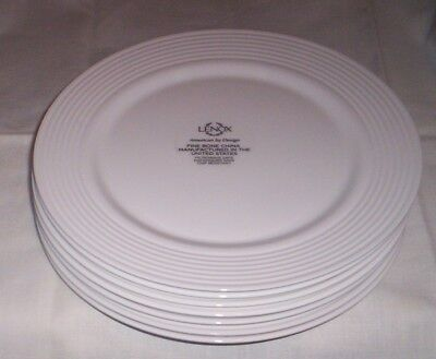 LENOX Tin Can Alley Dinner Plates Set of 6 NEW with Tags (Tin Dinner Plates)