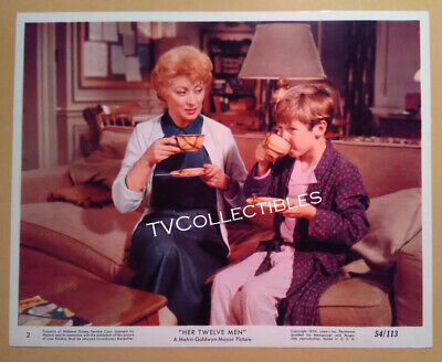 8x10 Lobby Card~ HER TWELVE MEN ~1954 ~Greer Garson with younger boy actor