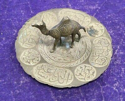 "Vintage Brass Standing Camel 3D Ashtray 5"""