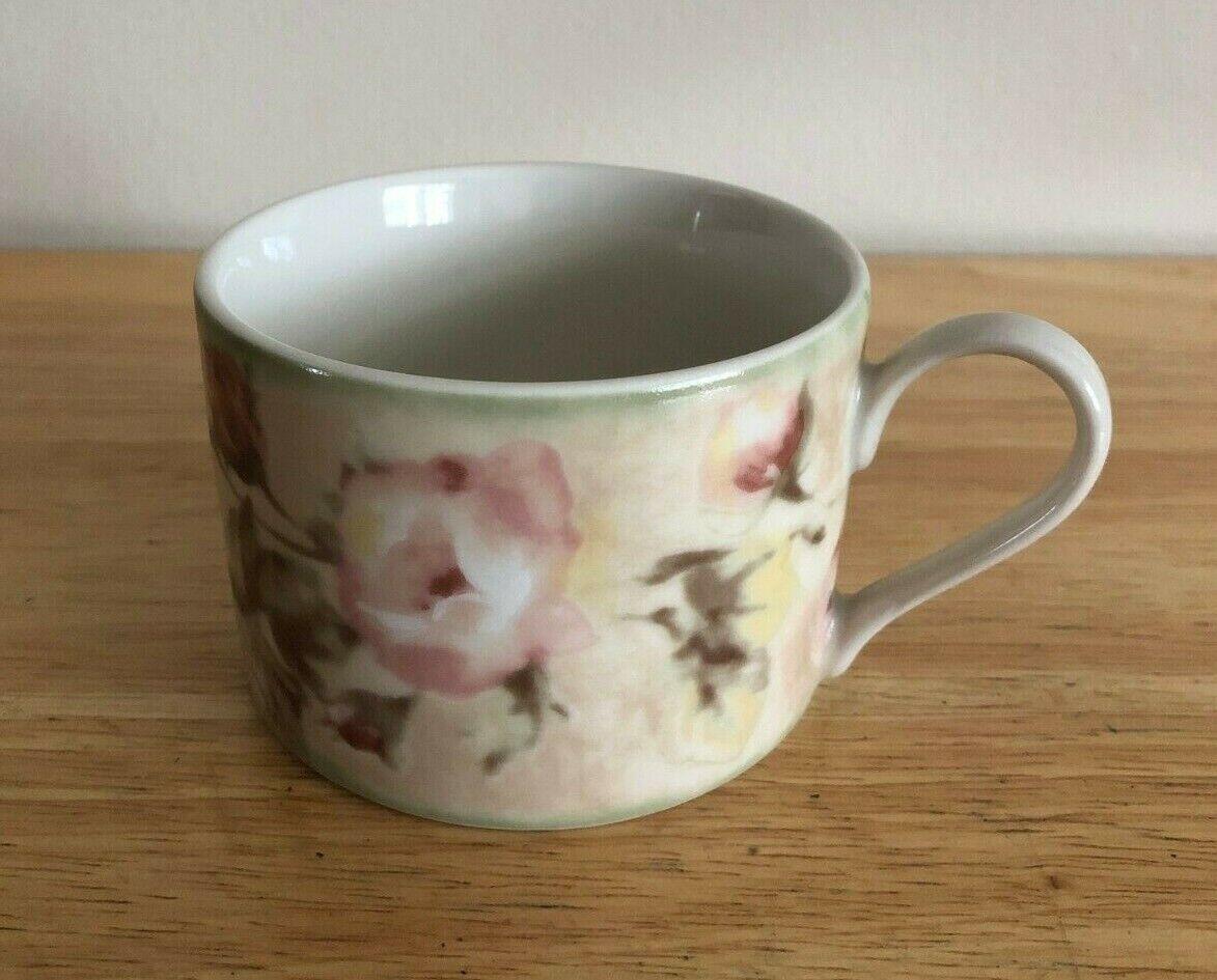 CHERI BLUM SAVANNAH TEA CUP AND SAUCER SET BEIGE FLORAL - $9.99