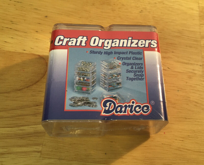 Darice Craft Organizers Bead Size New