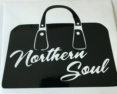 Northern Soul Bag  ,car decal/sticker for windows, bumpers , panels or laptops