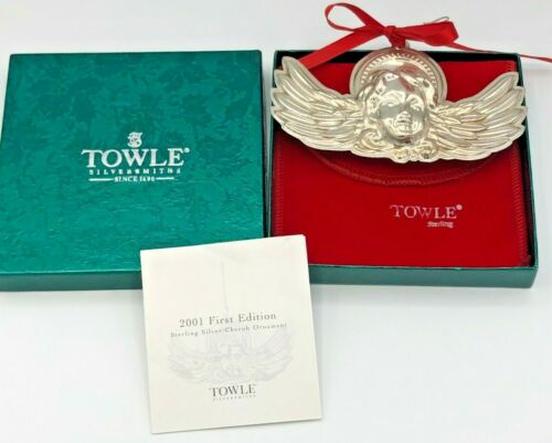 Towle 2001 Cherub Ornament, Sterling, 1st in series, with box