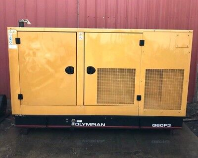 Olympian G60f3 60kw Natural Gas Generator 208120v 3-phase 546 Hours