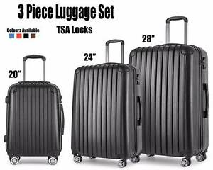 Suitcase Luggage 3pc Set TSA Locks Lightweight Lawnton Pine Rivers Area Preview