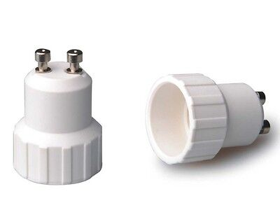 Lote de 2 Adaptadores GU10 a E14. Aptos para Led y halógenos