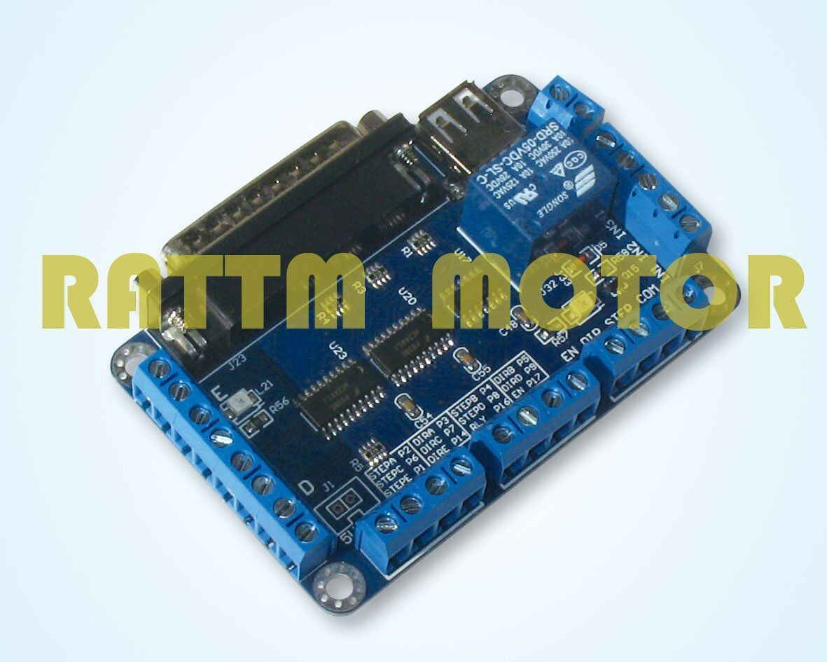 5 Axis Stepper Motor Driver Cnc Breakout Board Interface