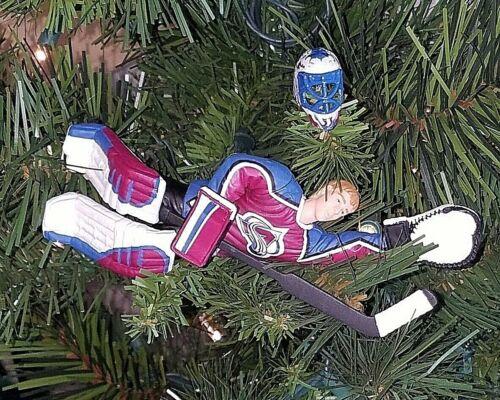 patrick ROY colorado AVALANCHE hockey NHL xmas TREE ornament HOLIDAY jersey AVS