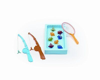 Lustiges Kinderspiel,  Angelspiel, Fische fangen, Angeln mit Teich und Kescher