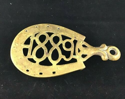 Antique Collectible Trivet 1889 Horseshoe shape  approx. 71/2 inch FREE SHIPPING