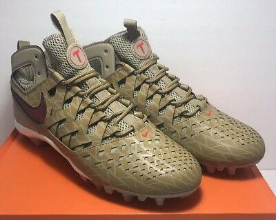 Nike Mens Size 11 Huarache V LAX Elite Khaki Red Lacrosse Cleats 807120-200