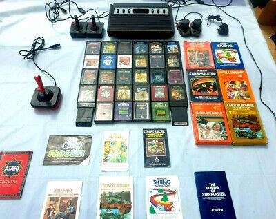 ATARI 2600 HEAVY SIXER 1977 AV MOD 34 GAMES PLAY ON ANY TV NO TUNING