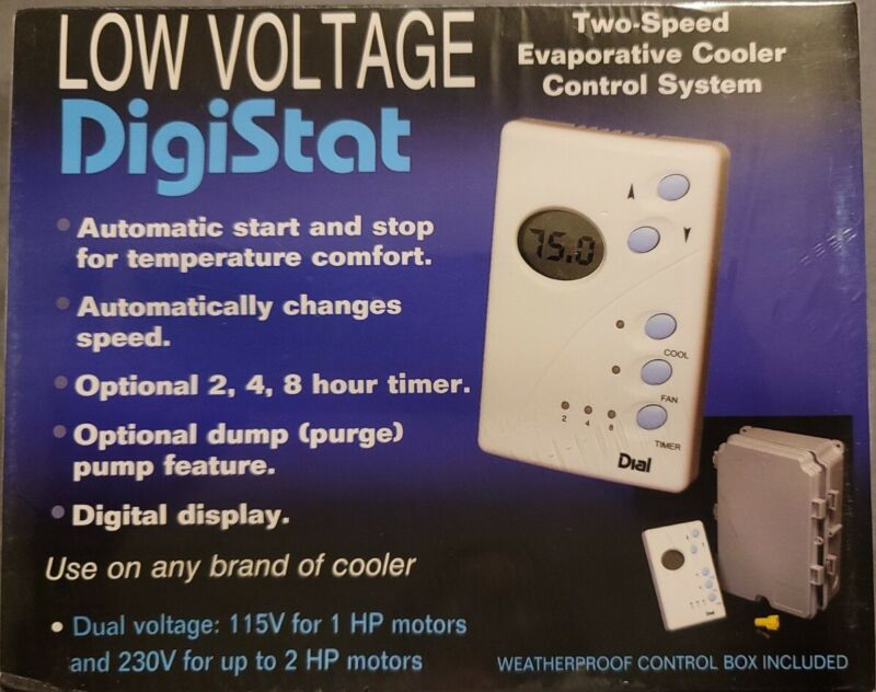 DigiStat Two Speed Low Voltage Evaporative Cooler Control System - 7624 // NEW