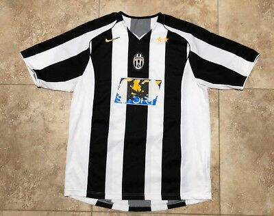 97fb8ded234 Rare 2004-2006 Juventus Home Jersey By Nike  16 Mens Size Large Sky Sport