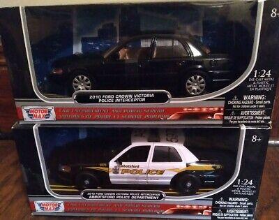 1/24 Scale Law Enforcement And Public Service Lot Of 2 Cop Cars MotorMax
