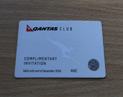 Qantas Club and International Business Lounge Pass Dec 2018