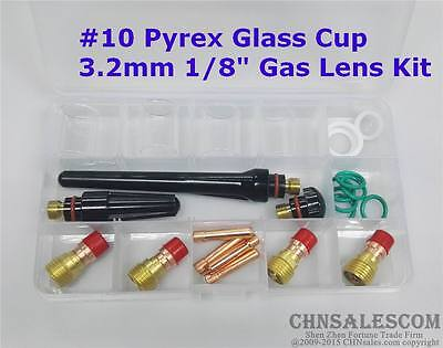 23 Pcs Tig Welding Stubby Gas Lens 10 Pyrex Cup Kit Wp-171826 Torch 18