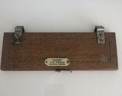 Vintage gentleman's Acme tie wooden press